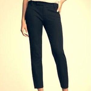 GAP Slim Cropped Black Cotton Pants
